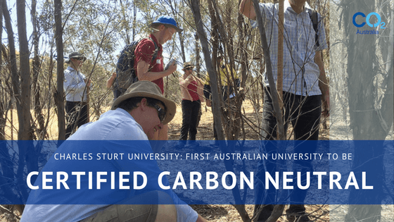 Sourcing carbon credits to meet university's certified carbon neutral commitments